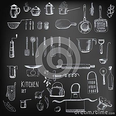 Free Kitchen Set Royalty Free Stock Image - 42298436