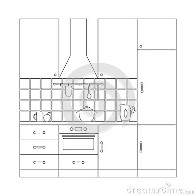 kitchen coloring page