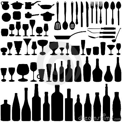 Free Kitchen Set Vector Stock Photos - 4631703