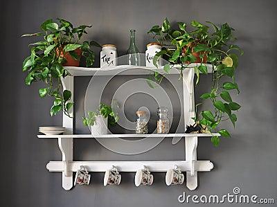 Kitchen shelf shabby chic