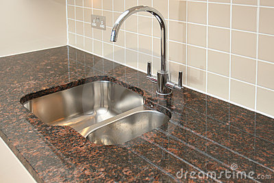 Kitchen Sink with Granite Worktop