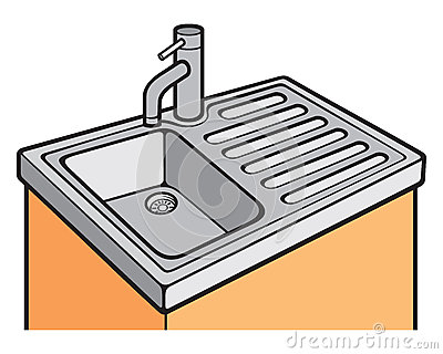 Kitchen sink symbol, kitchen sink sign.