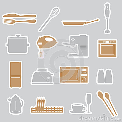 Kitchen stickers set eps10