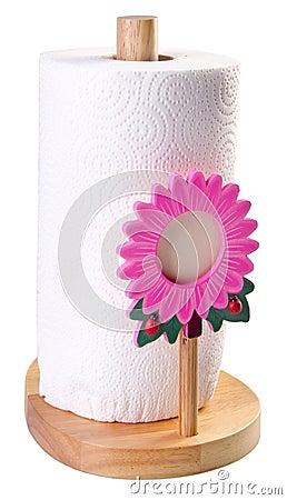 Kitchen tissue paper in towel holder