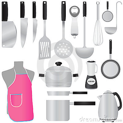 Free Kitchen Tools Vector Royalty Free Stock Photo - 5606845