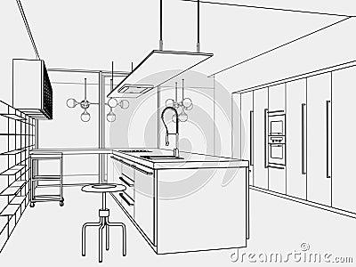 Kitchen toon-style