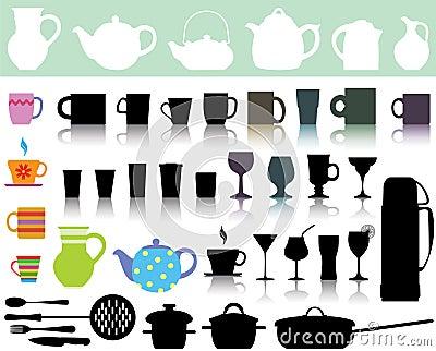 Kitchen utensils Vector Illustration