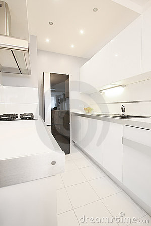 Kitchen white modern