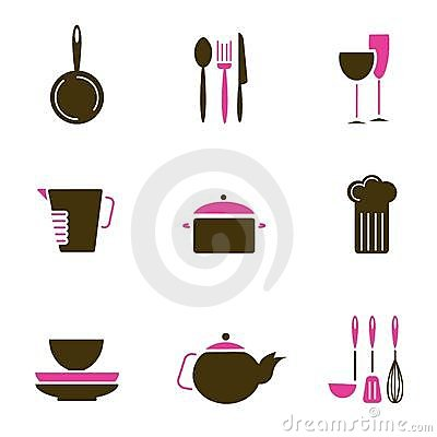 Kitchenware object set vector
