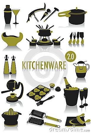 Kitchenware silhouettes