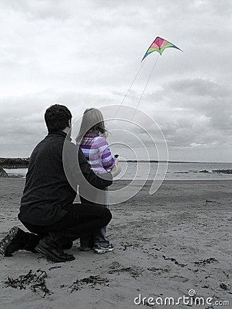 A kite and a beach