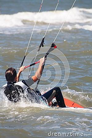 Kite boarder at sea