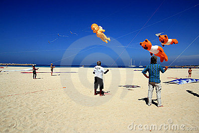 Kite competition in San Vito lo Capo beach, Sicily Editorial Photography