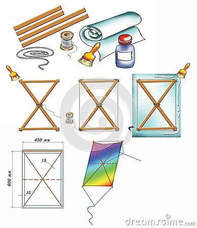 Kite do-it-himself illustration