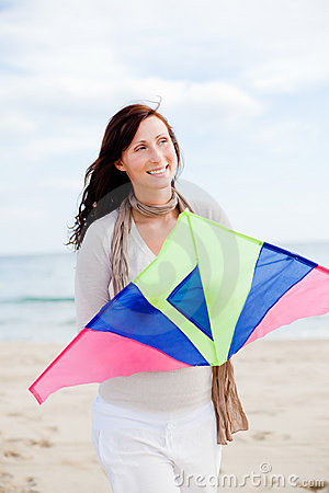 Free Kite Fly Woman Stock Photo - 16355110