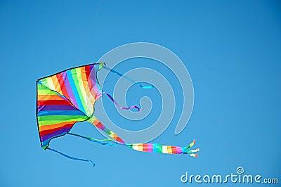 Kite Flying, Blue sky