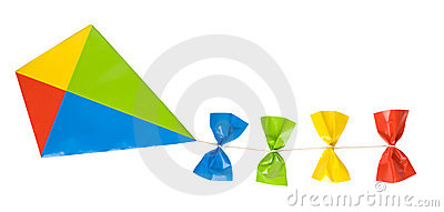 Kite isolated on white