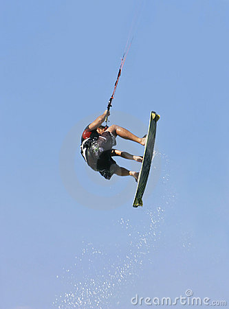 Kite jumper in action