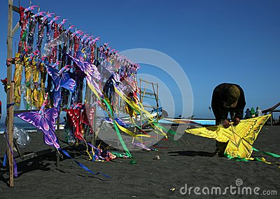Kite seller Editorial Photography