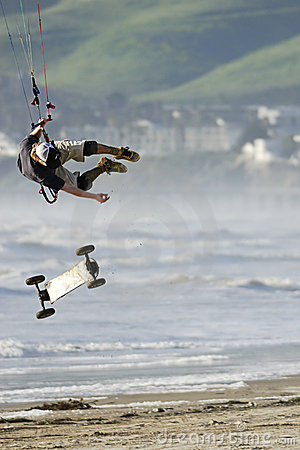 Free Kite Skateboarder Catching Air Stock Images - 864404