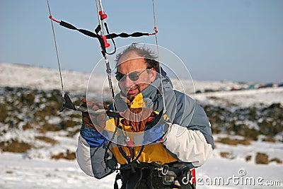 Kite skiier