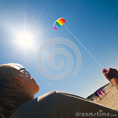 Kite on the sky
