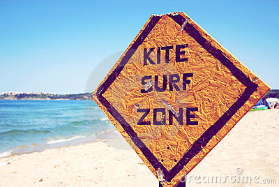 Kite surf zone