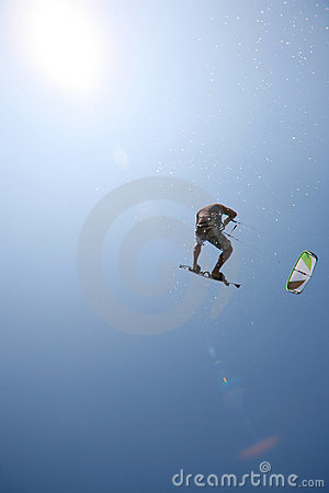 Free Kite Surfer Royalty Free Stock Photos - 11340698