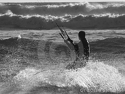 Kite Surfer B&W