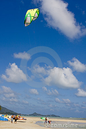 Kite-surfers in Thailand Editorial Stock Image