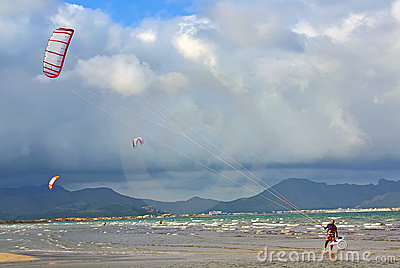 Kite surfing in Majorca