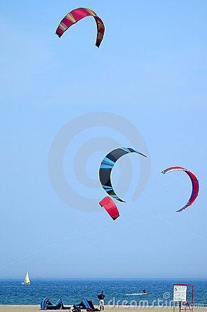 Free Kite Surfing Shore Stock Photography - 142262