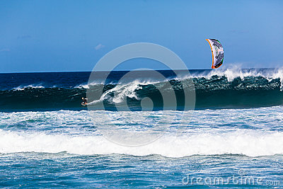 Kite Surfing Wave Ocean Editorial Photography