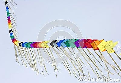 A kite takes off