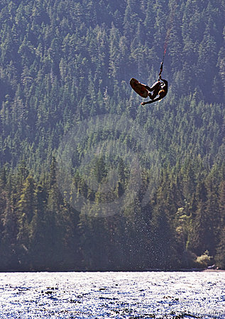 Free Kiteboarder Getting Some Big Air Stock Photos - 12914713