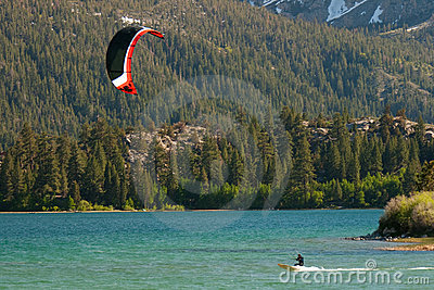 Kiteboarding at June Lake