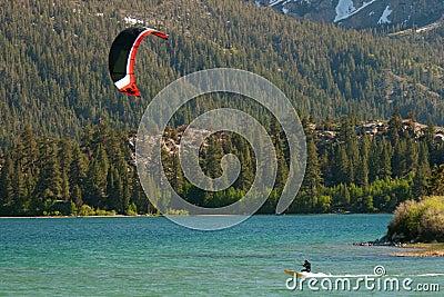 Kiteboarding at June Lake
