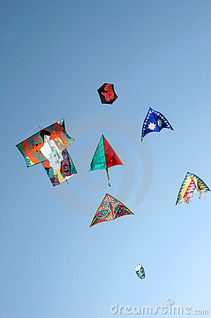 Kites in full air