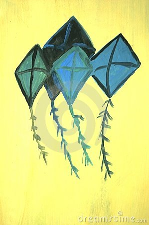 Kites painting