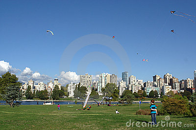 Kites at Play, BCKA Fun Fly Editorial Stock Photo