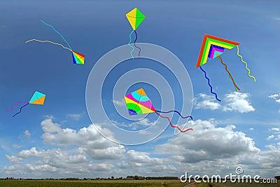 Kites with sky