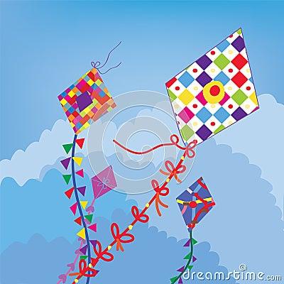 Kites in the sky funny