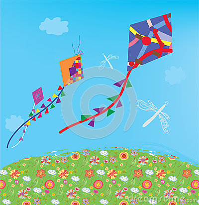 Kites at the sky outdoor
