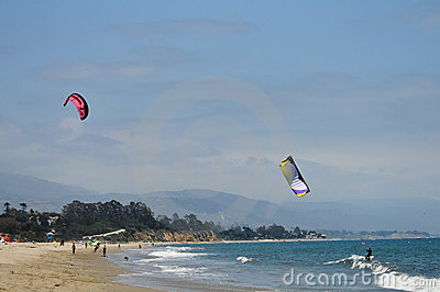 Kitesurfer at the beach