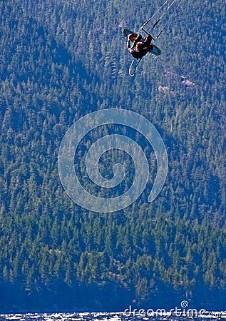 Free Kitesurfer Getting Some Big Air Royalty Free Stock Photo - 13562135