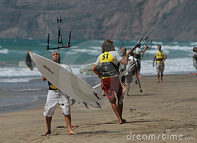 Kitesurfer in SPAIN CHAMPIONSHIP K Editorial Photography