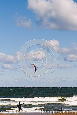 Kitesurfing Editorial Photo