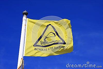 Kitesurfing flag