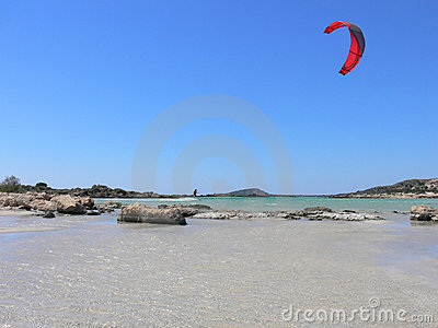 Kitesurfing round the Rocks