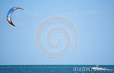Kite surfing on Tampa Bay Florida